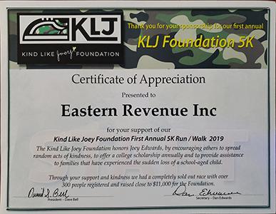 KLJ Certificate